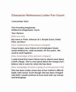 9 character reference letter template free sample With character reference letter template for court uk