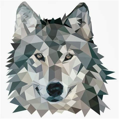 wolf origami geo animals trend tattoos pinterest