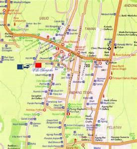 Ubud Bali Indonesia Map
