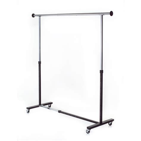 metal clothing racks shop style selections chrome steel clothing rack at lowes com