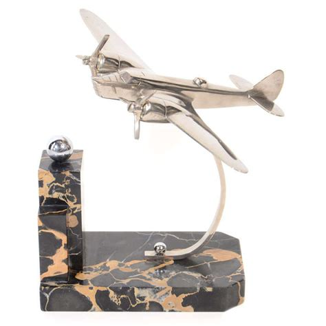 art deco machine age airplane bookend at 1stdibs