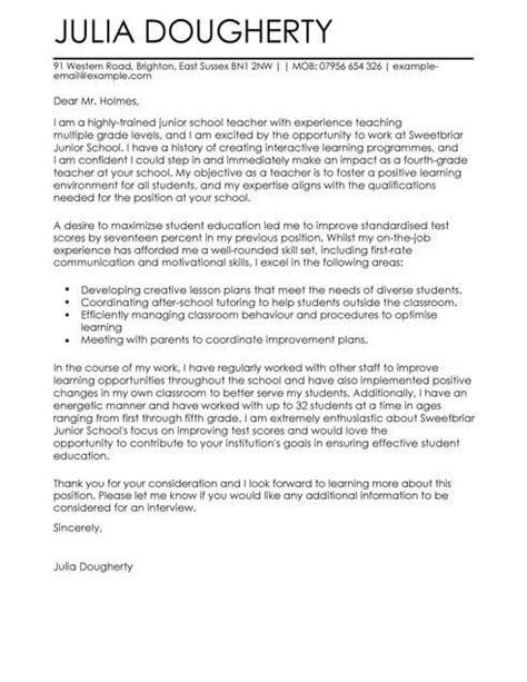 teacher education cover letter template cover letter
