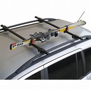 Attache Coffre De Toit : porte skis sur barres de toit menabo ski rack 423618 pour 1 paire de skis de fond ~ Medecine-chirurgie-esthetiques.com Avis de Voitures
