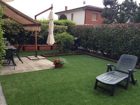 prato artificiale terrazzo foto realizzazione giardino residenziale con prato