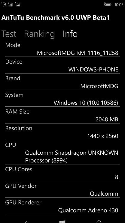 antutu benchmark beta for windows 10 mobile now available for