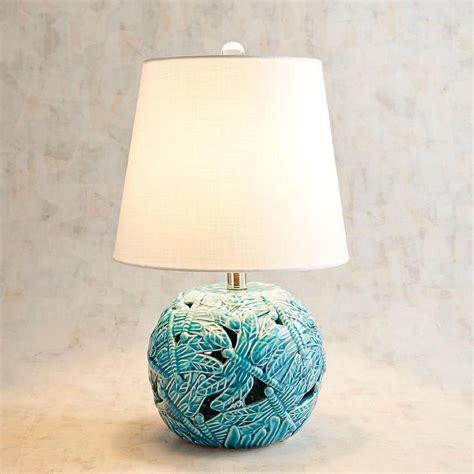 romano blue ceramic  table lamp