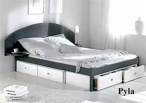 Lit 120x190 Avec Tiroir : lit 140x190 avec tiroir ~ Teatrodelosmanantiales.com Idées de Décoration