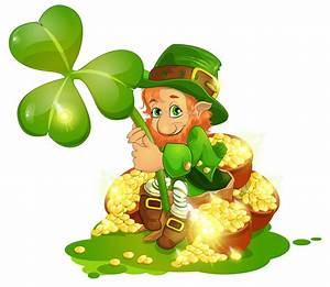 Saint Patrick's Day Leprechaun with Pot of Gold and ...