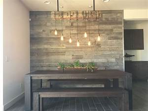19 great accent wall ideas to bring luxury into your home With kitchen colors with white cabinets with you are my sunshine reclaimed wood wall art