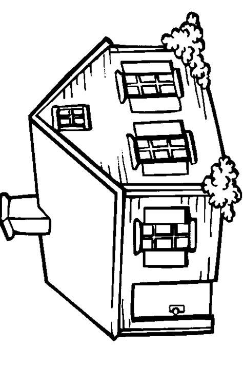Huizen Kleurplaat by Kleurplaten Huizen