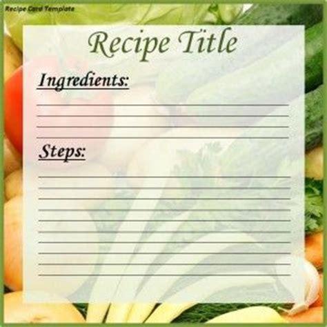 recipe card templates card templates  recipe cards