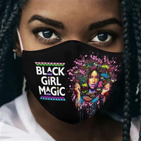 black queen black girl magic face mask dnstyles leesilk shop custom shirts   usa