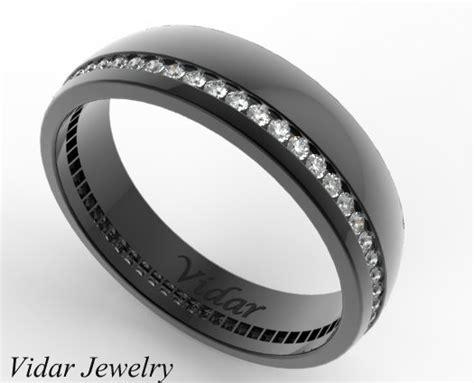 Black Gold Eternity Diamond Wedding Band