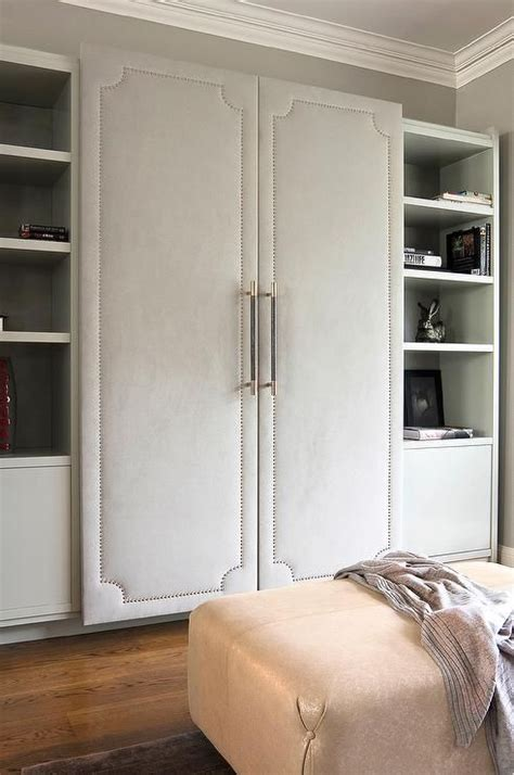 Gray Wardrobe Closet by Walk In Closet Features A Wall Lined With Cabinet Fitted