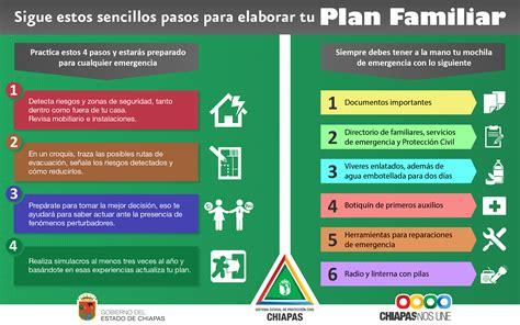 plan de emergencias familiar secretaría de protección civil inicio