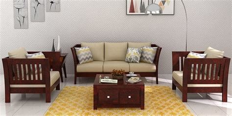 Buy Wooden Sofa Set Online In India Upto