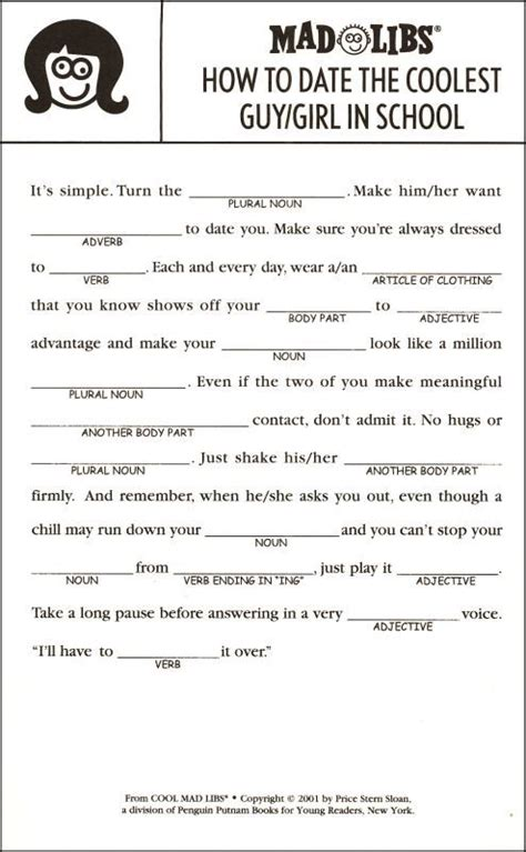cool mad libs additional photo inside page teaching ideas pinterest more english