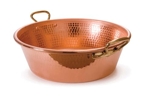 mauviel mpassion hammered copper jam pan  quart cutlery