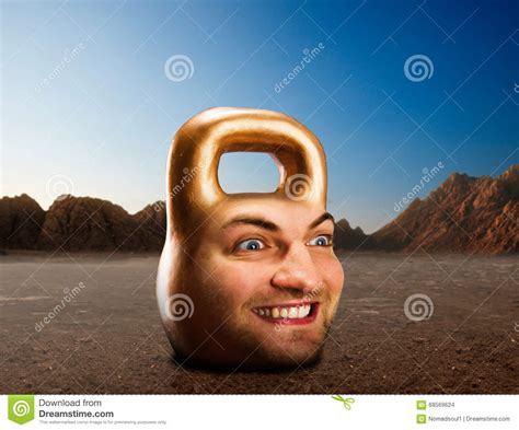 kettlebell mountains face male