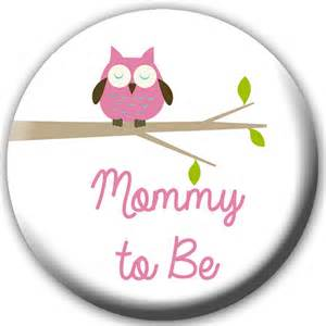 pink corsage baby shower button to be button to be badge