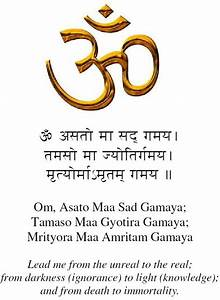 ॐ Hindu Prayers in Sanskrit from the Vedas (Hinduism ...