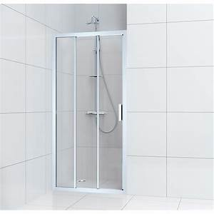 Porte de douche coulissante 100 cm transparent charm for Démonter porte coulissante douche