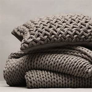 Chunky Knit Decke : throw cushion verflixt zugen ht pinterest trapillo stricken und decken ~ Whattoseeinmadrid.com Haus und Dekorationen