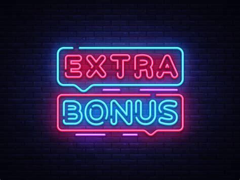 Extra Bonus Neon Sign Vector Bonus Neon Text Design ...