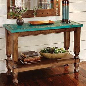 Turquoise Silver Trails Console Table