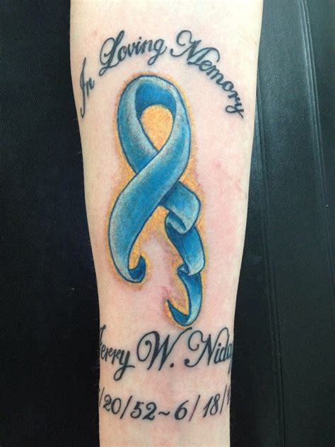 tattoo    forearm   dad  lost  battle  colon cancer  june