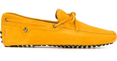 We've got ferrari footwear starting at $199 and plenty of other footwear. Tod's Ferrari X 'gommino' Driving Shoes in Yellow for Men (YELLOW & ORANGE) | Lyst