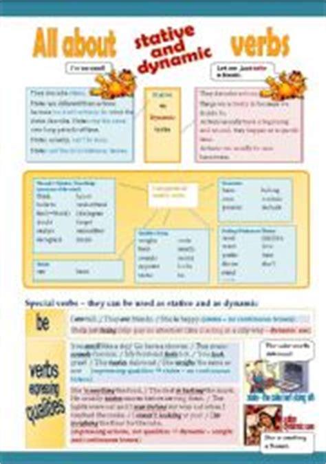 stative verbs presentation and worksheet 3 pages esl worksheet by pollyanna pl