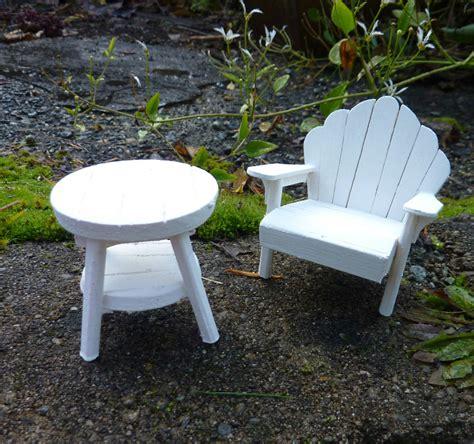 dollhouse miniature garden adirondack chair table