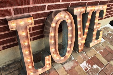marquee sign letters 4 custom wedding letters marquee signs rustic industrial