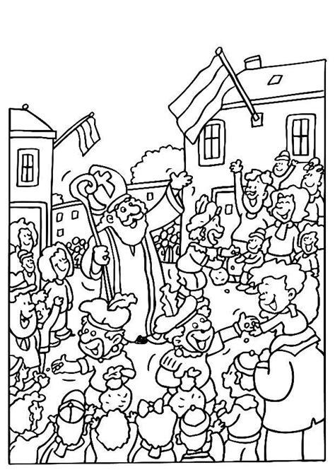 Afbeelding Sint Maarten Kleurplaat Eenvoudig by Kleurplaat Sinterklaas En Zwarte Pieten Afb 8187 Images