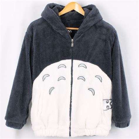 totoro sweater totoro plush hoodie coat kawaii harajuku
