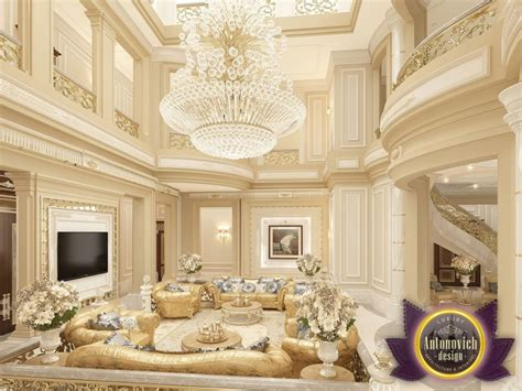 Luxusvilla Innen Wohnzimmer by Luxury Antonovich Design Uae августа 2016
