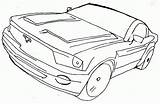 Coloring Mustang Ford Gt Ghostbusters Colorare 2004 Popular Coloringhome sketch template