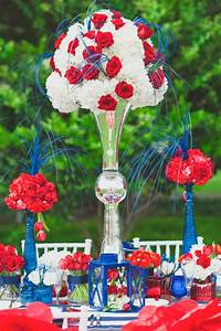 Eclectic, Red, White, And, Blue, Wedding, Ideas