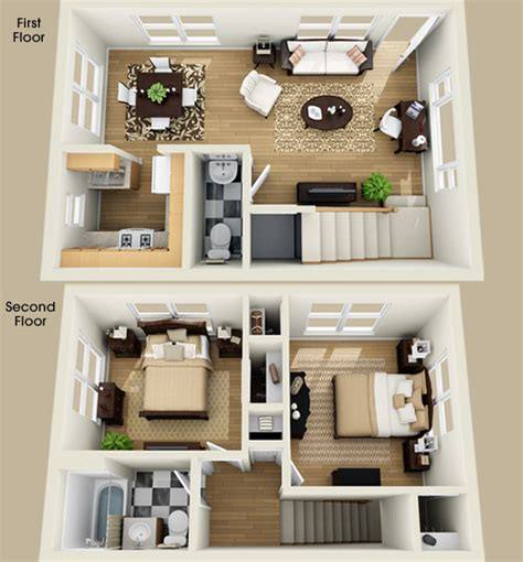 Delightful Garage Apartment Plans Bedroom by 2 Bedroom Apartment Floor Plan Ideas Home Delightful
