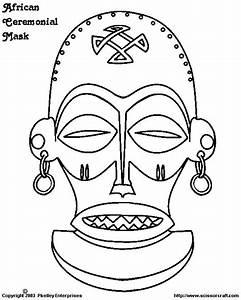 8 Best African Masks Template Images On Pinterest