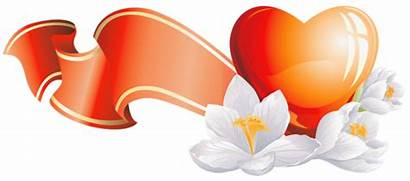 Heart Flowers Clipart Hearts Clip Flower Orange
