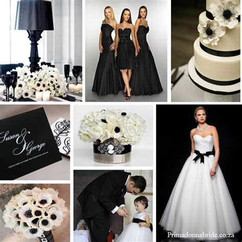 elegant black and white wedding primadonna