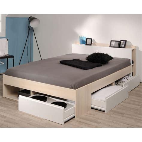 cuisine ikea blanche et bois cadre de lit à tiroirs tête de lit 160 200 acacia blanc