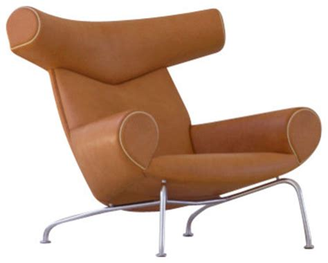 wegner ox chair cognac leather modern armchairs and