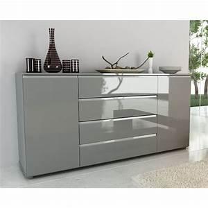 Buffet Design Pas Cher : buffet bas gris pas cher ~ Teatrodelosmanantiales.com Idées de Décoration