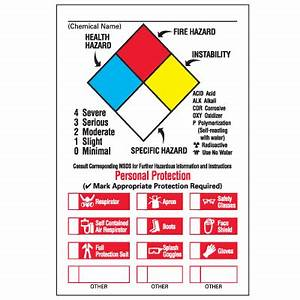chemical hazard warning labels nfpa diamond format With chemical label template