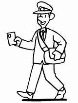 Coloring Postman Office Pages Preschool Community Stamps Man Helpers Template Digital Activities sketch template