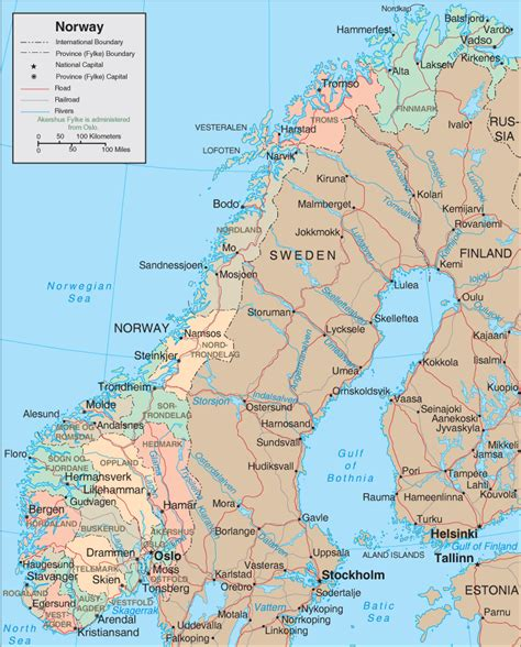 map  norway norway map  travel information