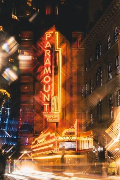 Neon Lights 4k Street Evening Buildings Timelapse